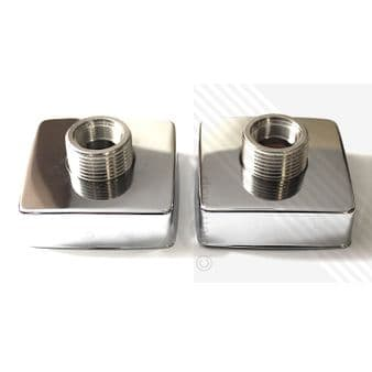 Wall Surface Bracket for Shower and Bath Mixers in Chrome