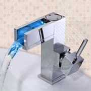 Arian 'Luma' LED Waterfall Basin Mixer Tap