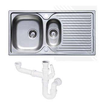 Astracast 1.5 Stainless Steel Reversible Kitchen Sink