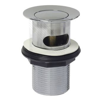 Bathroom Domed Basin Push Button Waste in Chrome