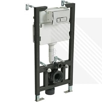 CYCLONE CONCEALED UNIVERSAL 1.00 - 1.20M WALL HUNG WC FRAME AND CISTERN WITH FLUSH PLATE
