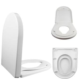 FAMILY D Shape Toilet Child Training Seat • Soft Close • Top & Bottom Fixing