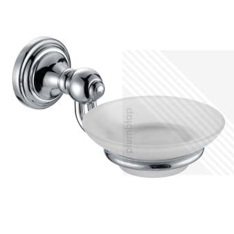 Stylish New Soap Dish and Holder Wall Mounted Bathroom Accessory Chrome Polished