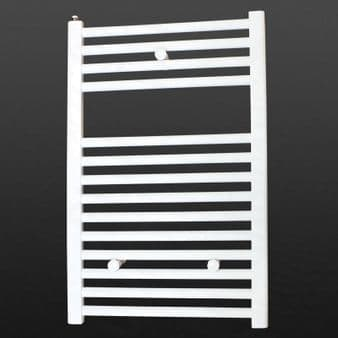 Ultraheat Chelmsford 700 x 420mm Straight White Bathroom Towel Warmer Radiator | Suitable for Dual Fuel and Electric Heated
