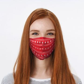Christmas Jumper Patterns Face Covering
