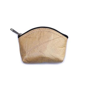 Leaf Leather Natural Coin Purse