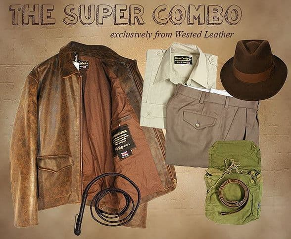 SUPER COMBO' Stock Jacket, Shirt, Pants, Webbing Belt, Whip, Bag, Strap. OPTIONAL  EXTRAS AVAILABLE