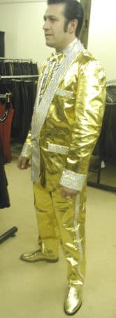 Custom Made - Gold Leather Trousers/Pants
