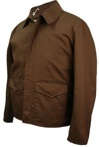 CUSTOM MADE Raiders of the Lost Ark Jacket in Brown or Black Cotton