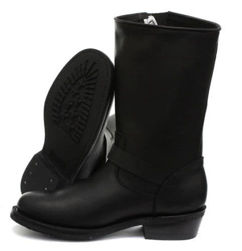 Grinders Buckled High-Leg Engineer Ankle Boots - Style: REBEL