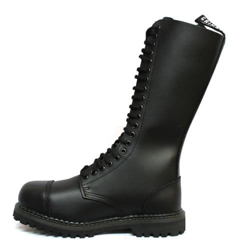 Grinders Lace Up Biker Boots (Long) with Steel Toe - Style: KING CS