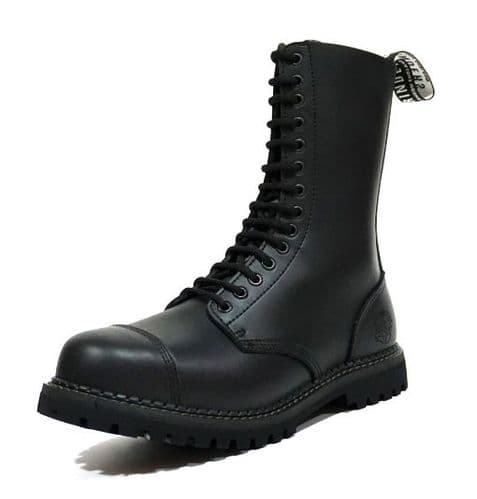 Grinders Lace Up Biker Boots with Steel Toe - Style: HERALD CS