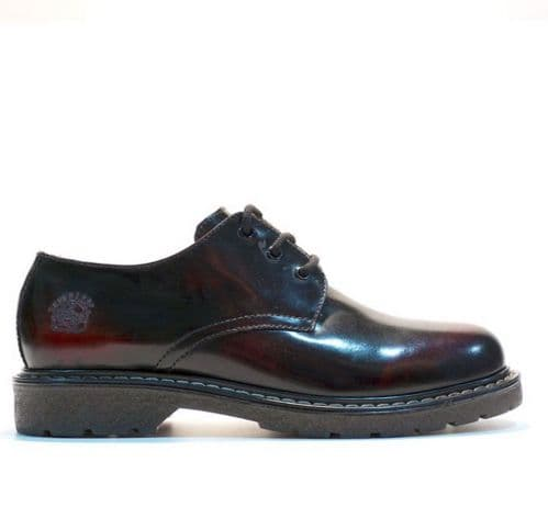 Grinders Toe Blucher Lace Up Shoes in Burnt Burgundy - Style: PERCIVAL