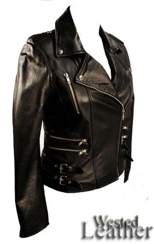 Ladies Biker Jacket - Style 7113