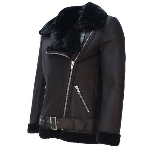 Ladies Heidi Shearling Sheepskin Lightweight Nappa Lamb