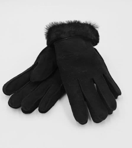 Ladies Sheepskin Gloves, Black, Luxury Gloves
