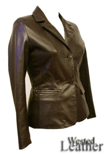 Luara Jacket in Brown Leather