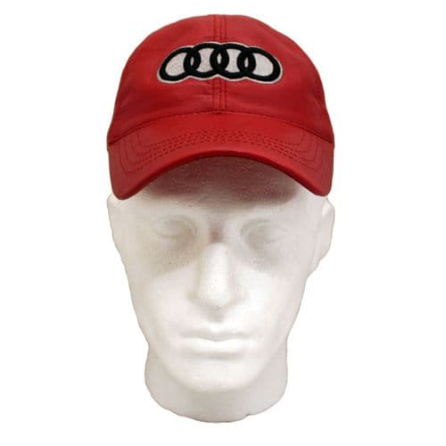 Red Leather Baseball Cap Audi inspired