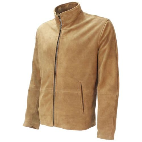 "The James Bond Beige ""Morocco Jacket"" - Spectre 007 style, Made with Soft Beige  Suede"