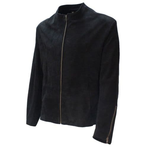 "The James Bond Black   ""London Jacket"" - Spectre style, Made with Soft Black  Suede"