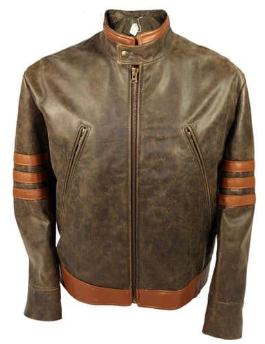 X-Men 'Origins' 'Wolverine' Style Leather Jacket as worn by Hugh Jackman