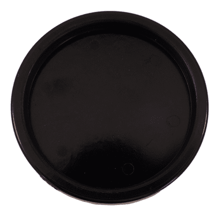 Castor Cups Black Plastic 6.9cm - set of 4