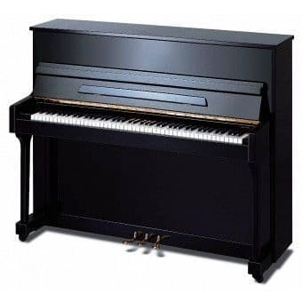 Elysian 118cm Traditional Upright Piano Black NEW