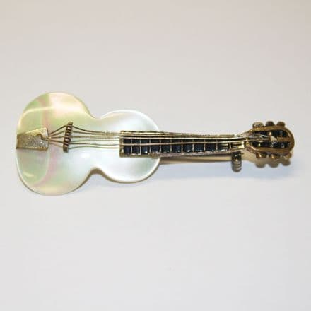 Guitar Mother of Pearl Brooch / Pin