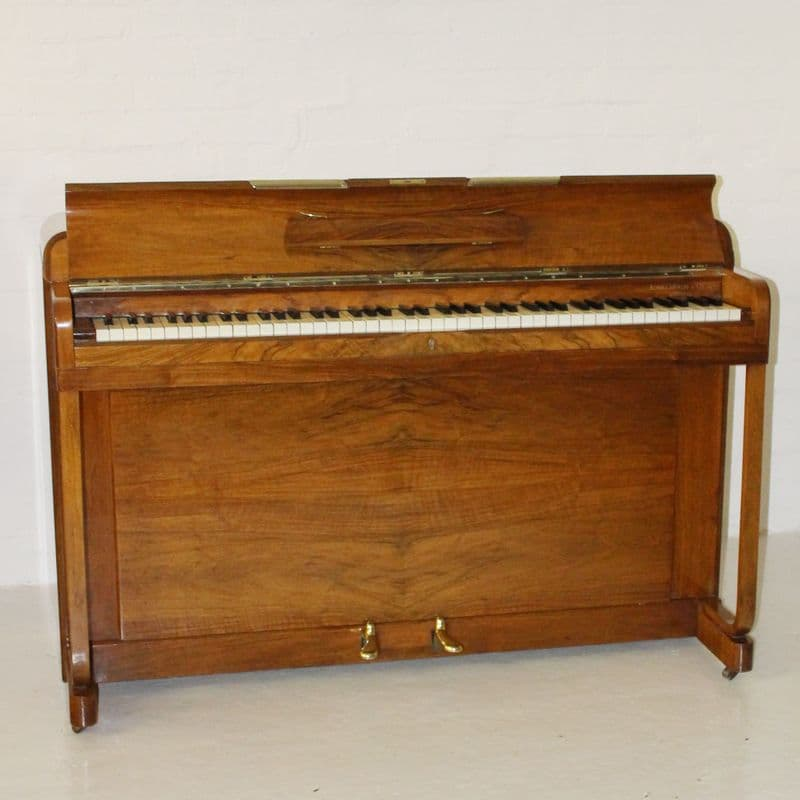 Kemble Minx upright piano Walnut c1962