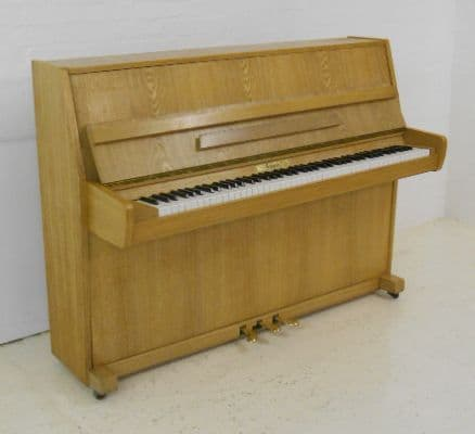 Schaffer 110cm modern upright piano oak c1980