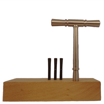 Tuning Hammer with iron grip for oblong tuning pins for early keyboard instruments