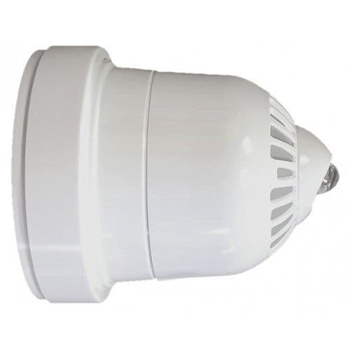 Ziton Wireless Sounder Beacon WHITE with CLEAR lens (Wall Mount) - 868Mhz