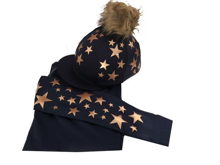Adult's Navy/Rose Gold Base Layer &  Hat Silk