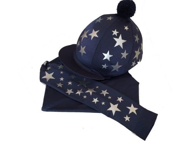 Adult's Navy/Silver Base Layer &  Hat Silk