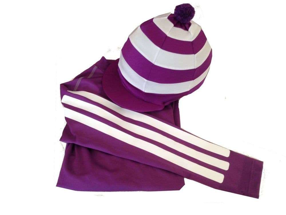 Adult's Purple/White Striped Base Layer and Silk