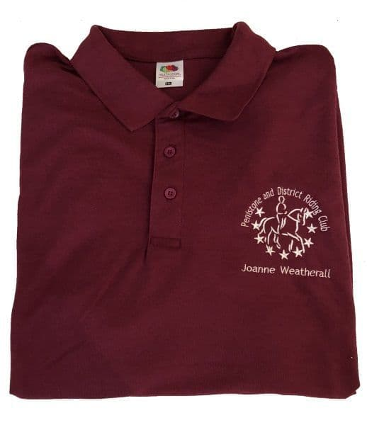 Adults Penistone and District RC Burgundy  Polo Shirt
