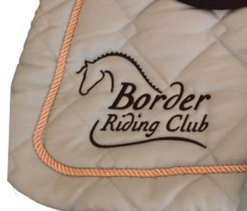 Border RC  embroidered GP turquoise  Saddlecloths