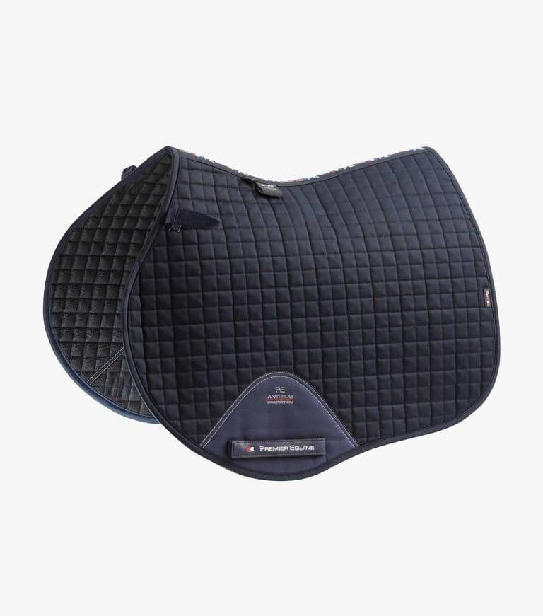 Burghley PC  embroidered Navy Premier Equine  Close Contact Saddlecloths