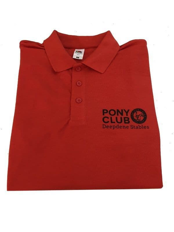 CHILD Deepdene Stables  Red Polo Shirt