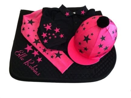 Childrens Hot Pink/Black Base Layer Cross Country Colours