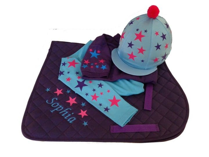 Childrens Pink/Purple/Sky Blue Base Layer Cross Country Colours