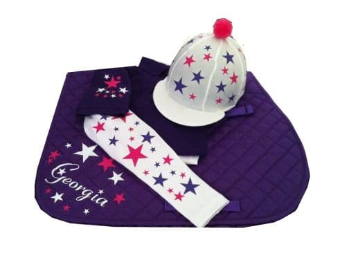 Childrens Purple/White/Pink  Base Layer Cross Country Colours