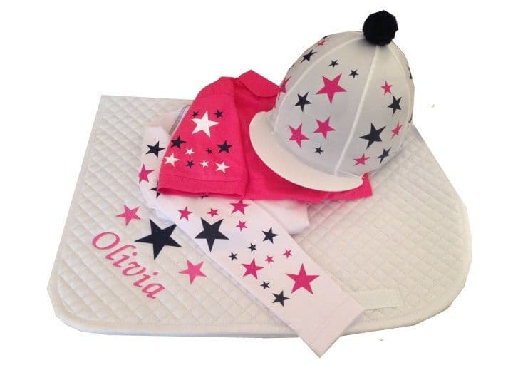 Childrens White/Pink/Navy  Base Layer Cross Country Colours