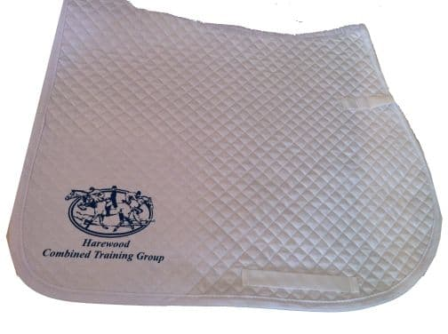 HCTG White Dressage Saddlecloths