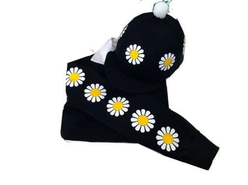 Navy Daisy Rugby Shirt & Matching Silk