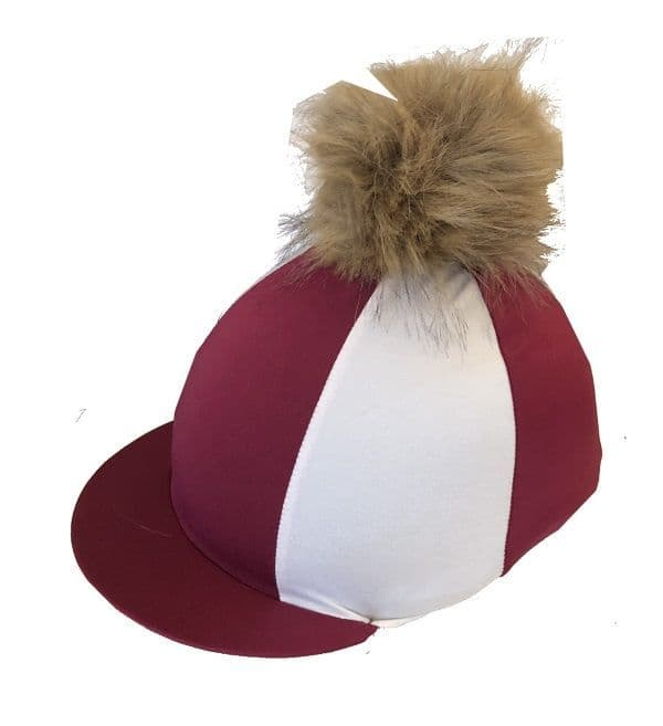 Penistone and District RC Burgundy/White Hat Silk