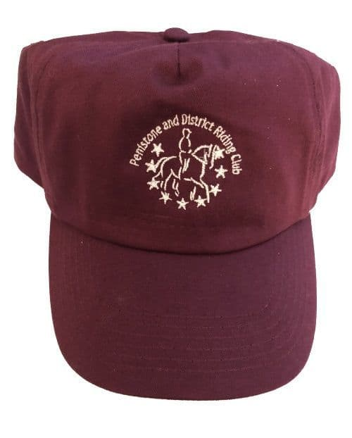 Penistone and District Riding Club Burgundy  Cap