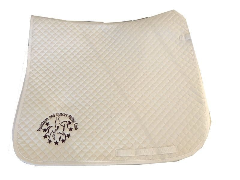Penistone and District Riding Club RC  White Dressage Saddlecloths
