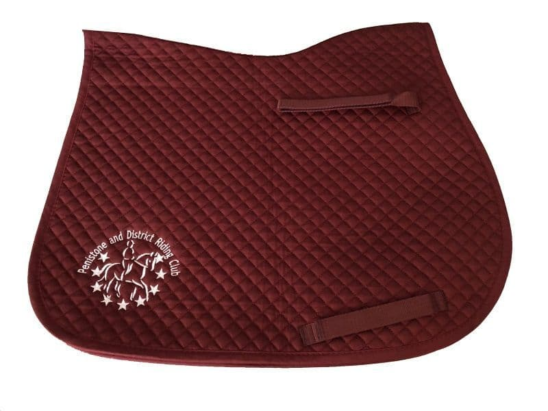 Personalised Burgundy FULL size  Saddlecloth