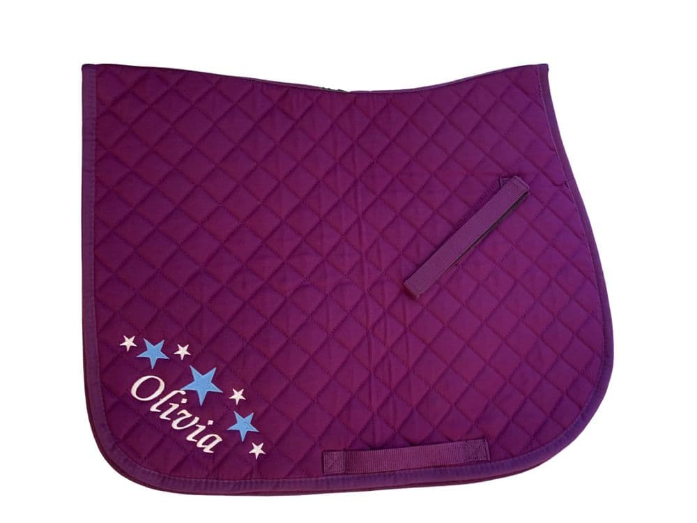 Personalised Purple GP Saddlecloth